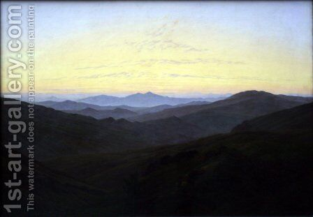 The Riesengebirge 1830-35 by Caspar David Friedrich - Reproduction Oil Painting
