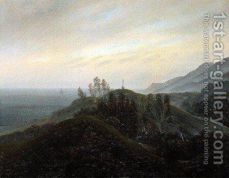 View of the Baltic 1820-25 by Caspar David Friedrich - Reproduction Oil Painting