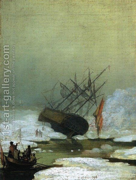 Wreck in the Sea of Ice 1798 by Caspar David Friedrich - Reproduction Oil Painting
