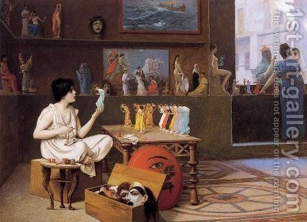 Painting Breathes Life Into Sculpture Ii by Jean-Léon Gérôme - Reproduction Oil Painting