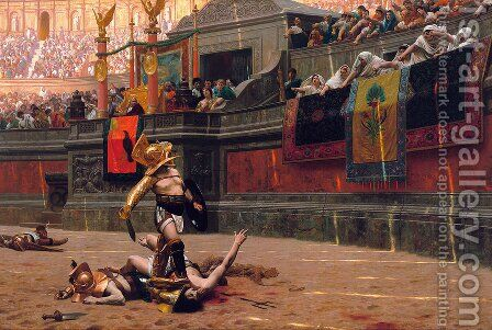 Pollice Verso (Thumbs Down) by Jean-Léon Gérôme - Reproduction Oil Painting