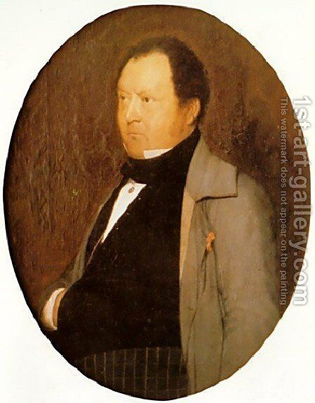 Portrait Of M  Leblond by Jean-Léon Gérôme - Reproduction Oil Painting