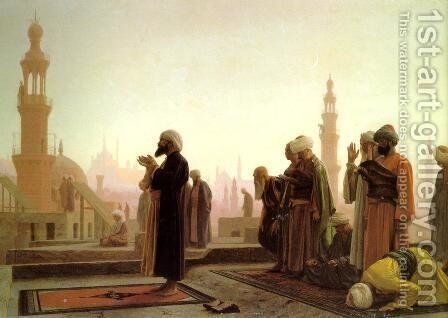Prayer In Cairo by Jean-Léon Gérôme - Reproduction Oil Painting