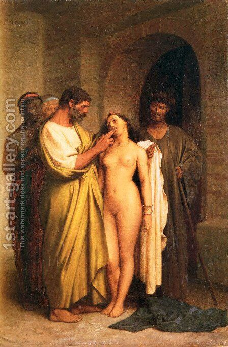 Purchase Of A Slave by Jean-Léon Gérôme - Reproduction Oil Painting