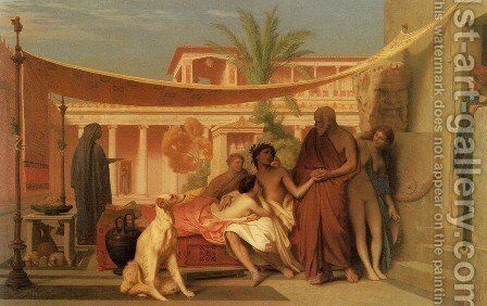Socrates Seeking Alcibiades In The House Of Aspasia by Jean-Léon Gérôme - Reproduction Oil Painting