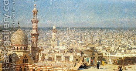 View Of Cairo by Jean-Léon Gérôme - Reproduction Oil Painting