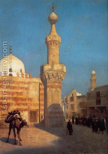 View Of Cairo Ii by Jean-Léon Gérôme - Reproduction Oil Painting