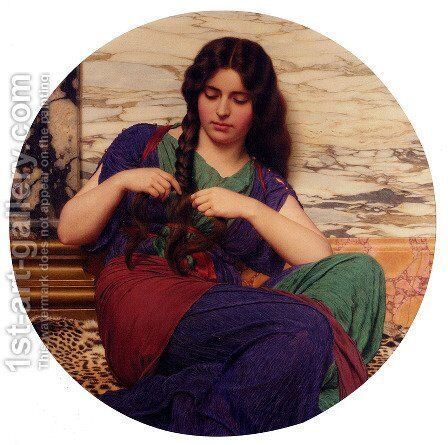 A Congenial Task by John William Godward - Reproduction Oil Painting