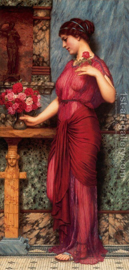 An Offering To Venus by John William Godward - Reproduction Oil Painting