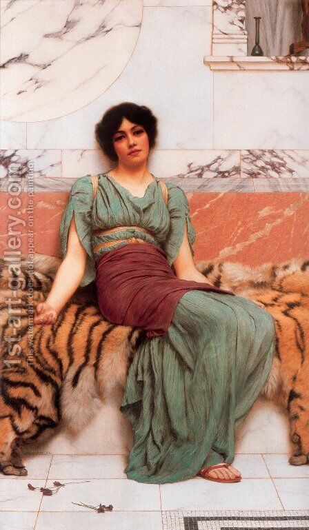 Sweet Dreams by John William Godward - Reproduction Oil Painting
