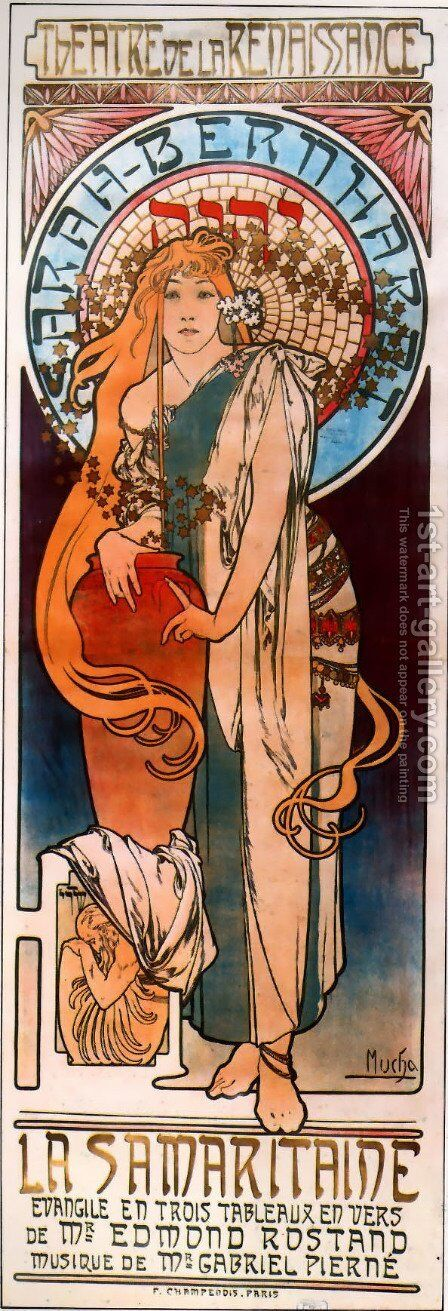 La Samaritaine by Alphonse Maria Mucha - Reproduction Oil Painting