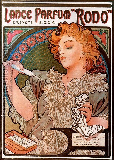 Lance Parfum   Rodo by Alphonse Maria Mucha - Reproduction Oil Painting