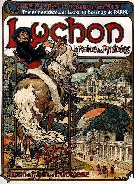 Luchon by Alphonse Maria Mucha - Reproduction Oil Painting