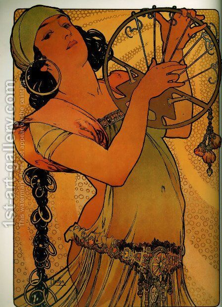 Salome by Alphonse Maria Mucha - Reproduction Oil Painting