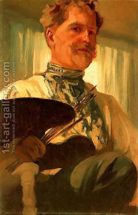 Self Portrait by Alphonse Maria Mucha - Reproduction Oil Painting