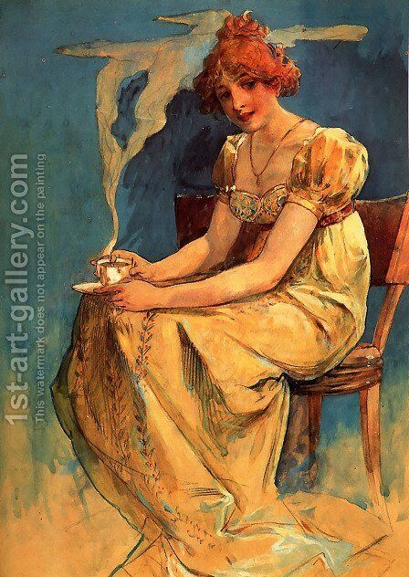 Untitled by Alphonse Maria Mucha - Reproduction Oil Painting