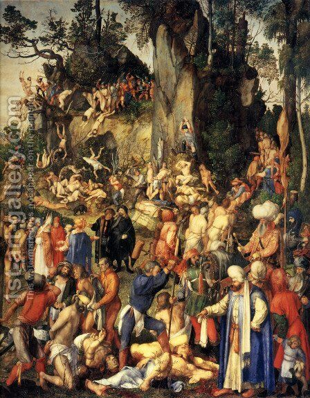 Matyrdom Of The Ten Thousand by Albrecht Durer - Reproduction Oil Painting