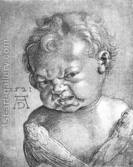Weeping Cherub by Albrecht Durer - Reproduction Oil Painting