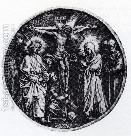 Crucifixion (Round) by Albrecht Durer - Reproduction Oil Painting