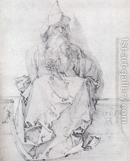 Seated Prophet by Albrecht Durer - Reproduction Oil Painting