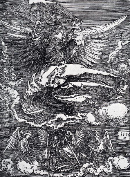 Sudarium Spread Out By An Angel by Albrecht Durer - Reproduction Oil Painting
