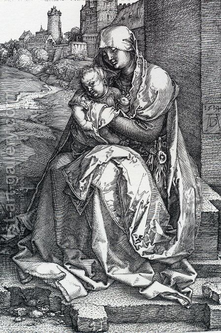 Madonna By The Wall by Albrecht Durer - Reproduction Oil Painting