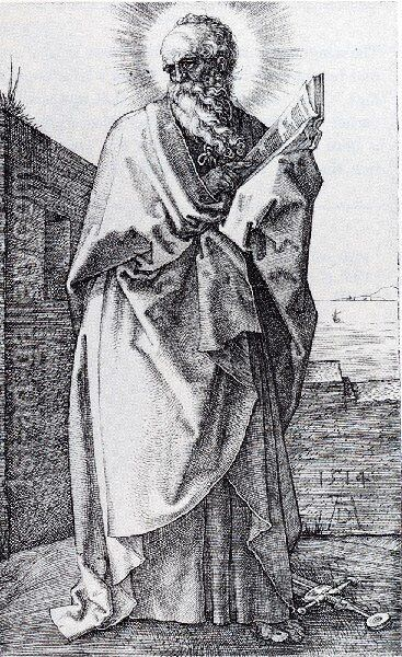 St  Paul (Second State) by Albrecht Durer - Reproduction Oil Painting