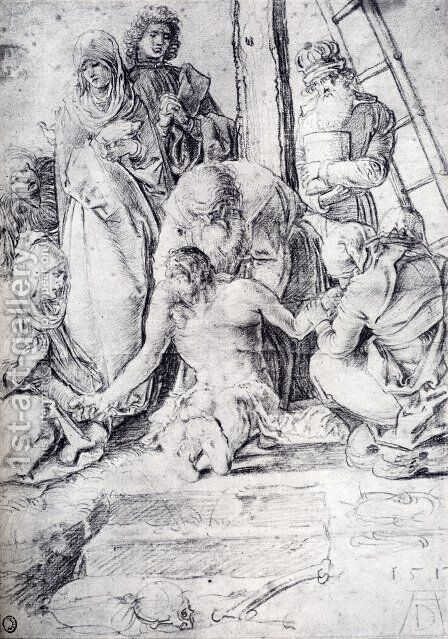 The Lamentation 1513 by Albrecht Durer - Reproduction Oil Painting