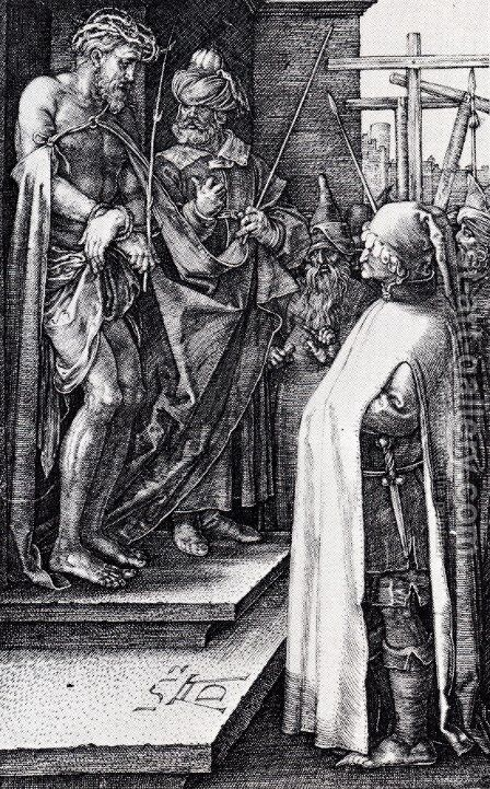 Ecce Homo (Engraved Passion) by Albrecht Durer - Reproduction Oil Painting