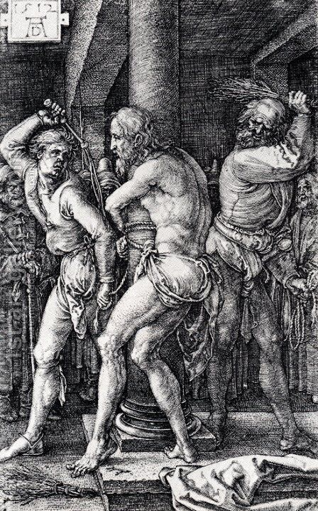 Flagellation (Engraved Passion) by Albrecht Durer - Reproduction Oil Painting