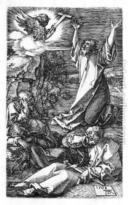 Agony In The Garden (Engraved Passion) by Albrecht Durer - Reproduction Oil Painting