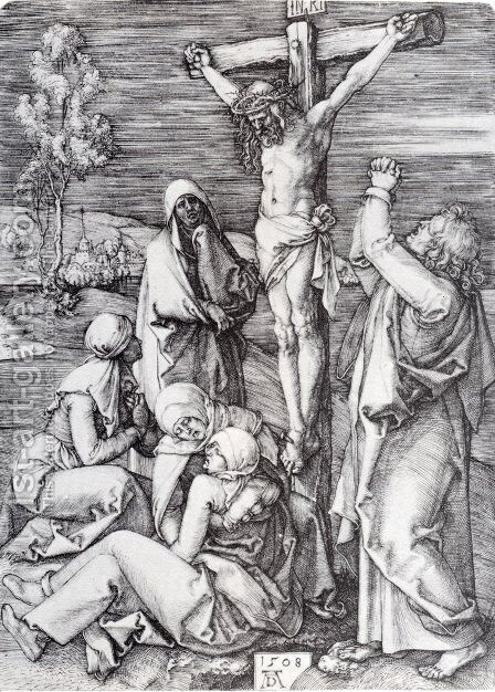 Crucifixion 1508 by Albrecht Durer - Reproduction Oil Painting