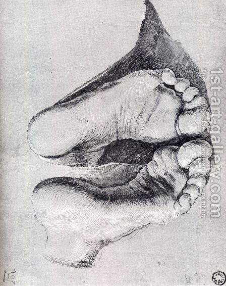 Feet Of A Kneeling Man by Albrecht Durer - Reproduction Oil Painting