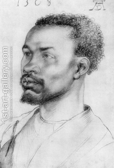 Head Of A Negro by Albrecht Durer - Reproduction Oil Painting
