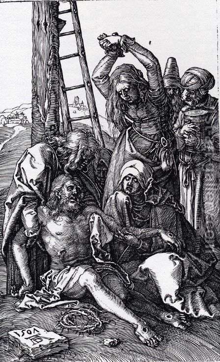 Lamentation Over Christ (Engraved Passion) by Albrecht Durer - Reproduction Oil Painting