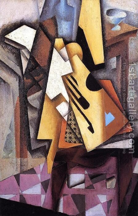 Guitar On A Chair by Juan Gris - Reproduction Oil Painting