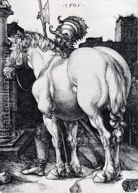 The Large Horse by Albrecht Durer - Reproduction Oil Painting