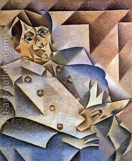 Portrait of Pablo Picasso 1912 by Juan Gris - Reproduction Oil Painting