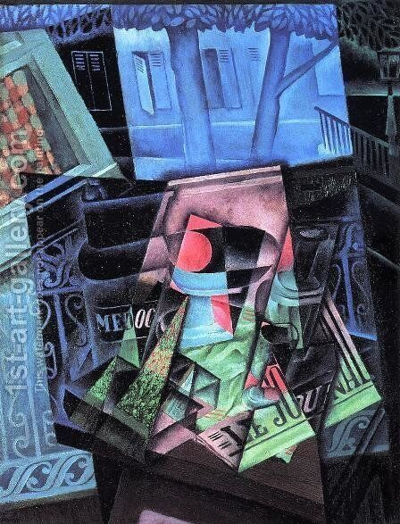 Still Life Before An Open Window Place Ravignan by Juan Gris - Reproduction Oil Painting
