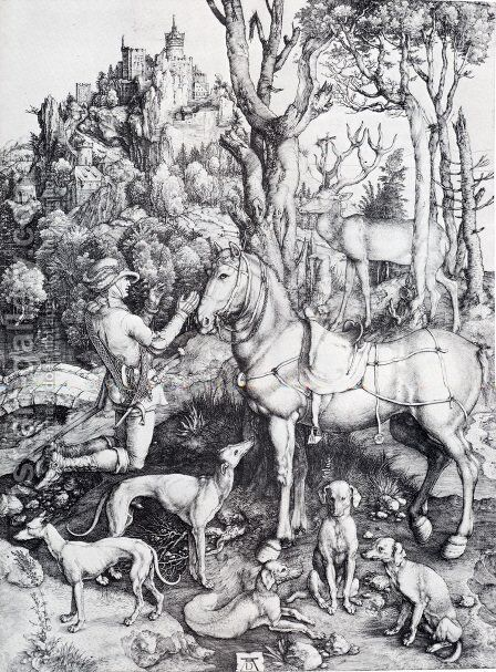 St  Eustace by Albrecht Durer - Reproduction Oil Painting