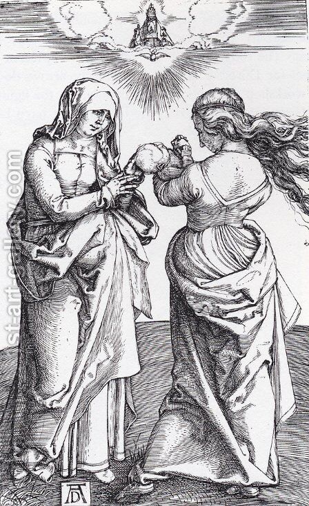 The Virgin With The Infant Christ And St  Anne by Albrecht Durer - Reproduction Oil Painting
