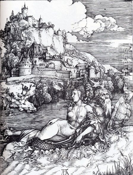 The Sea Monster by Albrecht Durer - Reproduction Oil Painting