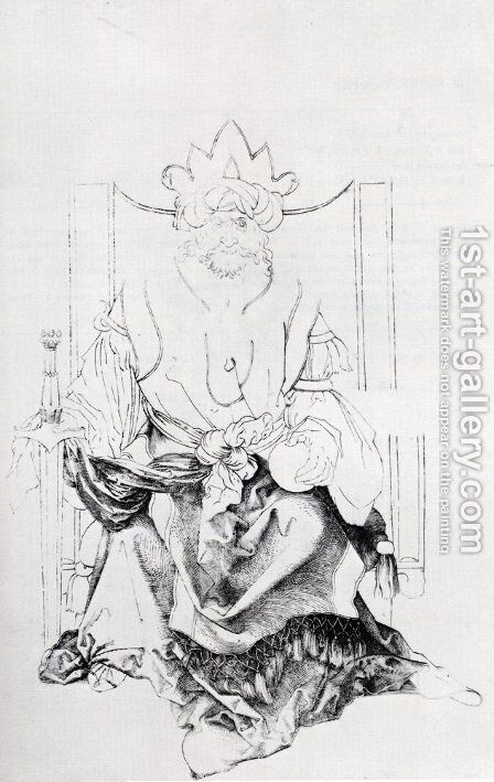 Oriental Ruler Enthroned by Albrecht Durer - Reproduction Oil Painting