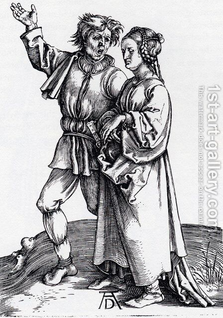 Rustic Couple by Albrecht Durer - Reproduction Oil Painting