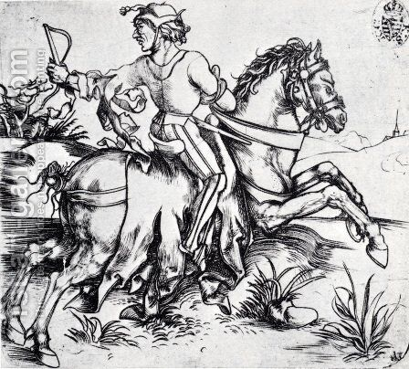 The Great Courier by Albrecht Durer - Reproduction Oil Painting