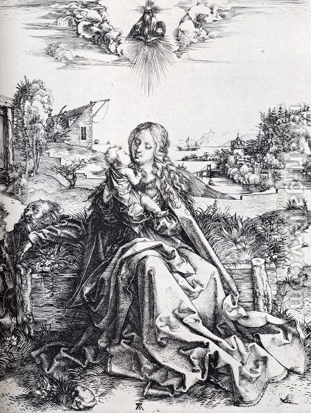 The Virgin With The Dragonfly by Albrecht Durer - Reproduction Oil Painting