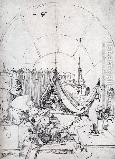 Lying In Room by Albrecht Durer - Reproduction Oil Painting