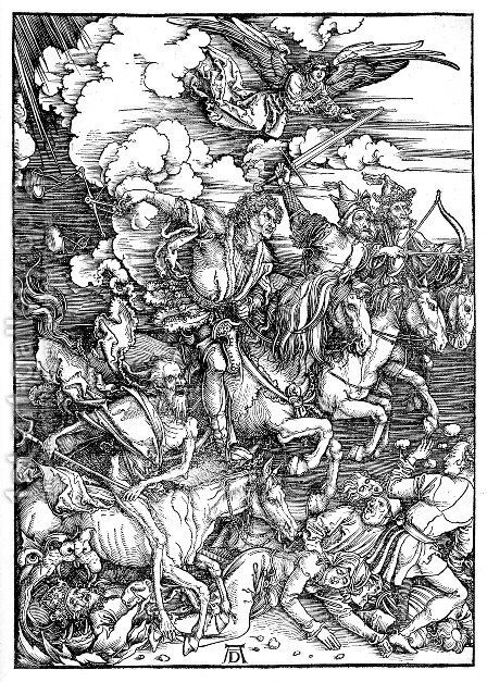 The Four Horsemen Of The Apocalypse by Albrecht Durer - Reproduction Oil Painting