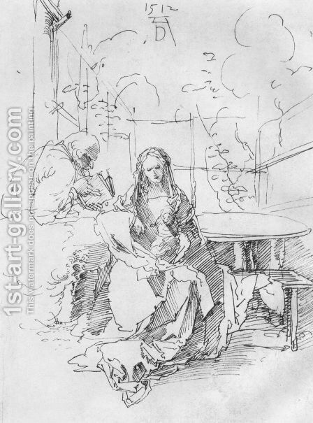 The Holy Family In A Trellis by Albrecht Durer - Reproduction Oil Painting