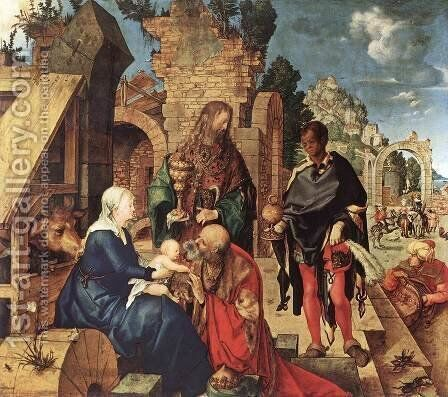 Adoration Of The Magi by Albrecht Durer - Reproduction Oil Painting